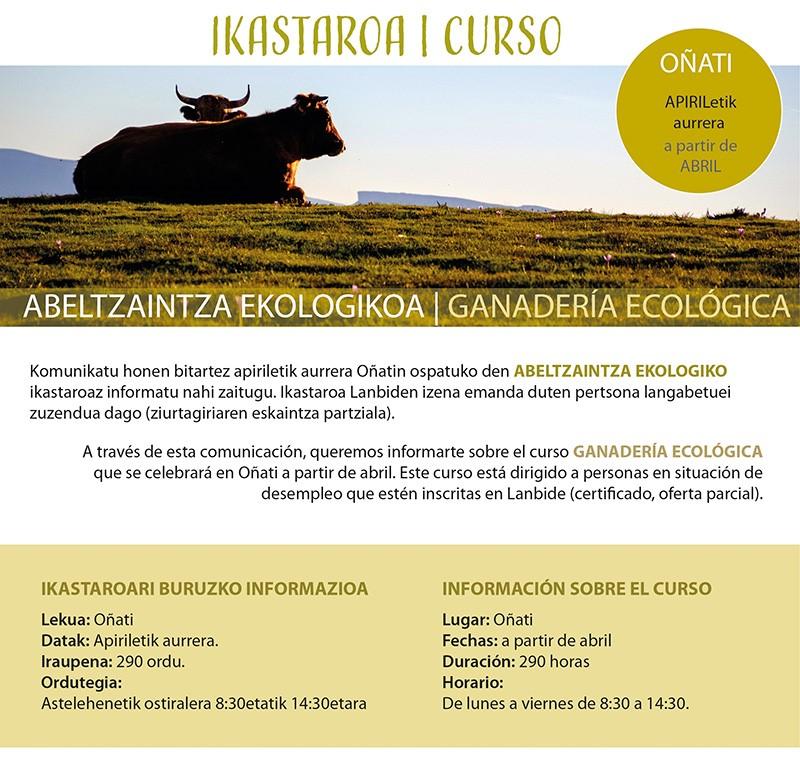 Curso De Ganaderia Ecologica Abril 2021